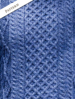 Pattern Detail of Lightweight Traditional Aran Mens Wool Sweater