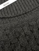 Pattern Detail of Mens Wool Turtleneck Sweater