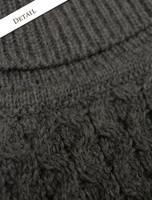 Pattern Detail of Mens Wool Turtleneck Sweater