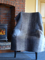 Mohair Striped Knee Throw - Shades of Grey