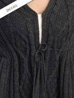 Detail of Wool Fringe Cape Shawl