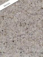 Pattern Detail of Donegal Tweed Half Zip Sweater