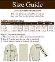 Donegal Tweed Half Zip Sweater