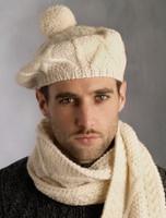 Handknit Merino Wool Tam Hat