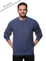 Irish Fisherman Ribbed Sweater - Caspian