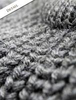 Detail of Irish Fisherman Sweater Ribbed Pattern