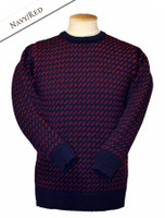 Norwegian Sweater - Navy/Red