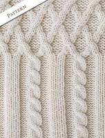 Pattern Detail of Aran Zipper Cardigan