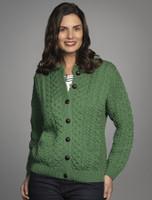Merino Wool Aran Lumber Jacket - Kiwi