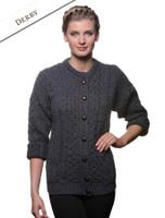 Merino Wool Aran Lumber Jacket - Derby