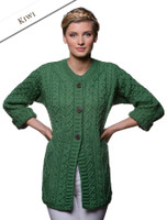 Women's Merino Wool A-Line Fit Cardigan - Kiwi