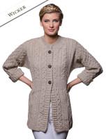 Women's Merino Wool A-Line Fit Cardigan - Wicker