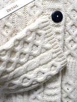 Sleeve Detail of Women's Merino Wool A-Line Fit Cardigan