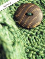 Button Detail of Women's Merino Wool A-Line Fit Cardigan