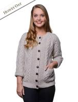 Premium Handknit Merino Lumber Jacket - Honey Oat
