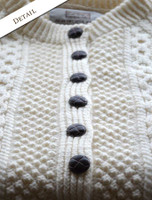 Button Detail of Premium Handknit Merino Lumber Jacket