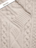 Pattern Detail of Premium Handknit Merino Lumber Jacket