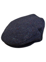 Children's Tweed Flat Cap - Navy