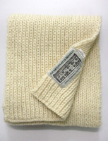 Children's New Wool Scarf - Natural White