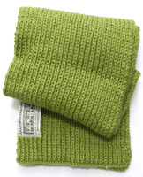 Children's New Wool Scarf - Green
