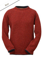 Wool Cashmere Crew Neck Sweater - Red