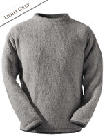 Wool Cashmere Crew Neck Sweater - Light Grey