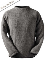 Wool Cashmere Crew Neck Sweater - Medium Grey