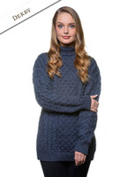 Women's Oversized Merino Turtleneck Sweater - Derby
