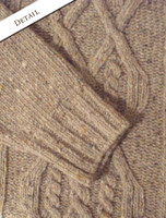 Detail from Wool Cashmere Aran Mock Turtleneck Sweater