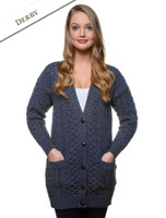 Merino Shawl Neck Cardigan - Derby
