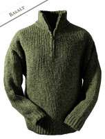 Men's Donegal Half Zip Sweater - Basalt