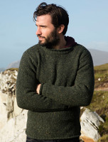 Roll Neck Sweater - Fisherman Sweater - Basalt