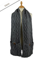 Pocket Merino Scarf - Grey