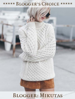 Blogger's Choice: Merino Wool Turtleneck Sweater - Mikutas - Natural White