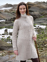 Merino Wool Flared Coat - Parsnip
