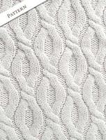 Pattern Detail of Women's Merino Wool Cable Knit Hoodie