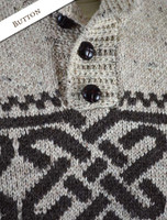 Button Detail of Celtic Troyer Sweater