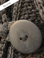 Button Detail of Shawl Neck Two-Tone Merino Cardigan
