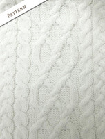 Pattern Detail of Womens Turtleneck Cable Knit Sweater