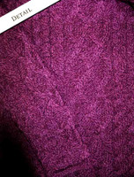 Sleeve Detail of Womens Turtleneck Cable Knit Sweater