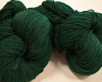 Aran Wool Knitting Hanks - Bottle Green