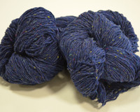 Aran Wool Knitting Hanks - Blue Fleck