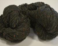 Aran Wool Knitting Hanks - Green Fleck