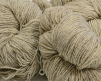 Aran Wool Knitting Hanks - Light Black Sheep / Light Grey