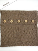 Aran-Knit Cushion Cover