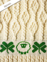 Detail from Merino Sheep & Shamrock Baby Throw