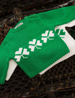 Baby/Toddler Crew Neck Sweater with Buttons - Oat/Emerald