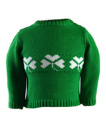 Baby/Toddler Crew Neck Sweater with Buttons - Emerald