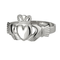 Gents' Extra-Heavy Puffed-Heart Claddagh Ring