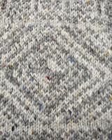 Pattern Detail of Women's Fair Isle Long Hooded Coatigan with Celtic Knot Zipper Pull